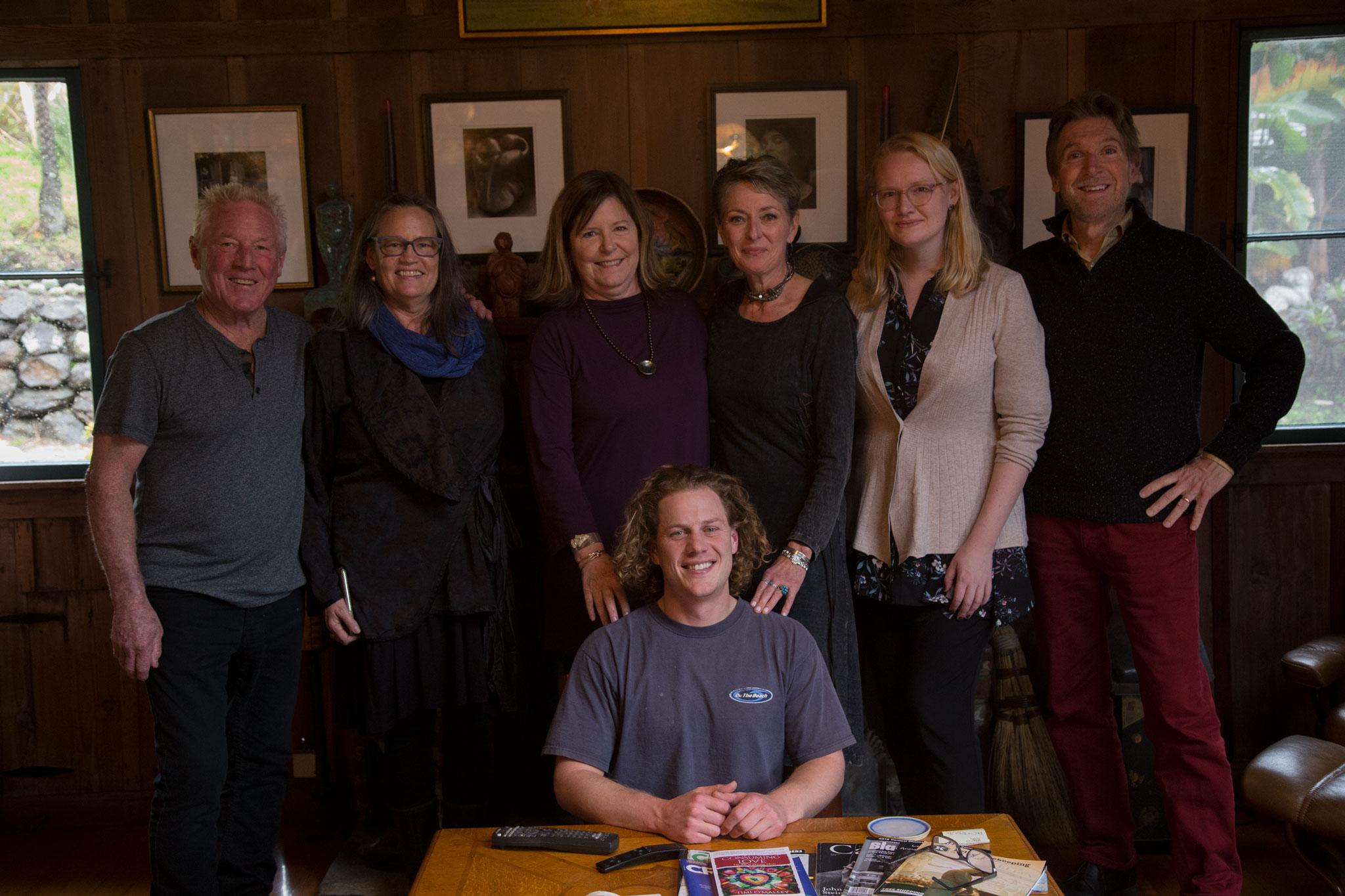 Kim Weston, Heidi Kirkpatrick, Anne Berry, Lori Vrba, Emma Powell, Brian Taylor and Zach Weston on Wildcat Hill