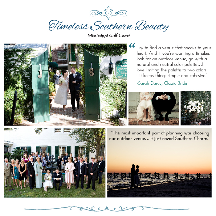 Outdoor wedding in southern united states location.