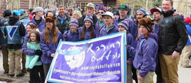 Raging Buffalo ski team.