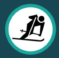Skier icon.