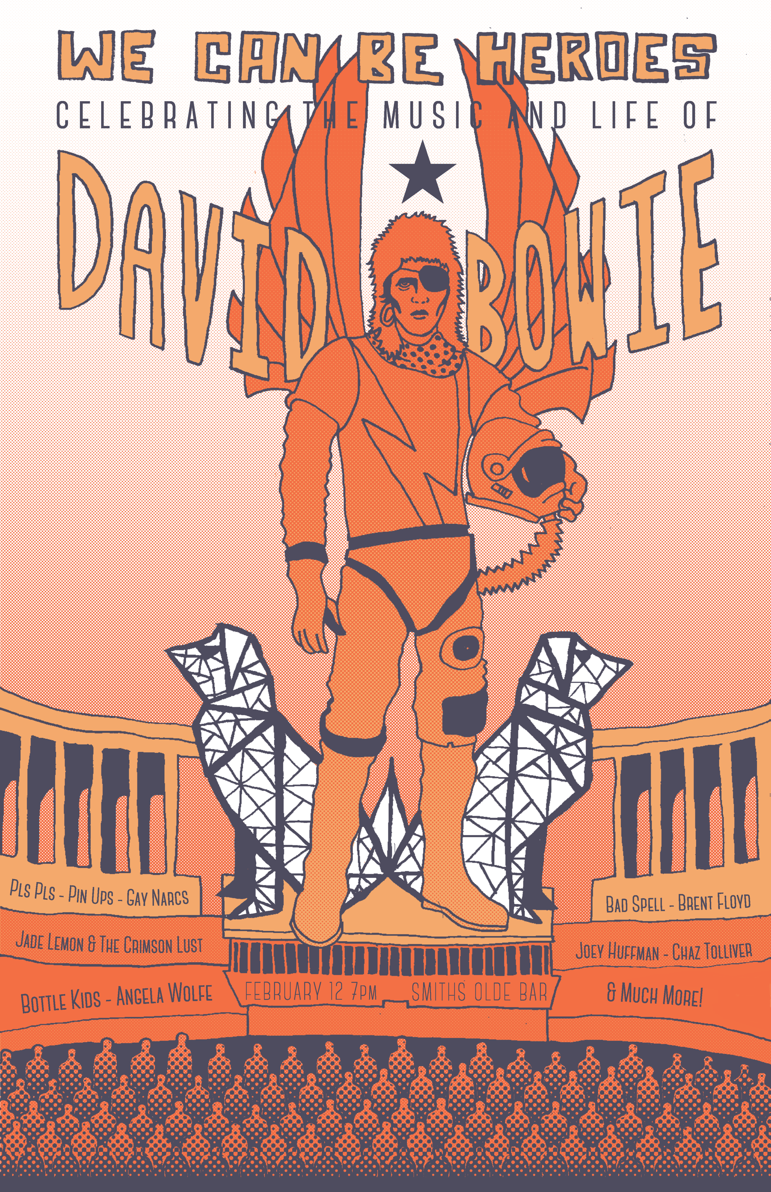 David Bowie Tribute Show Poster