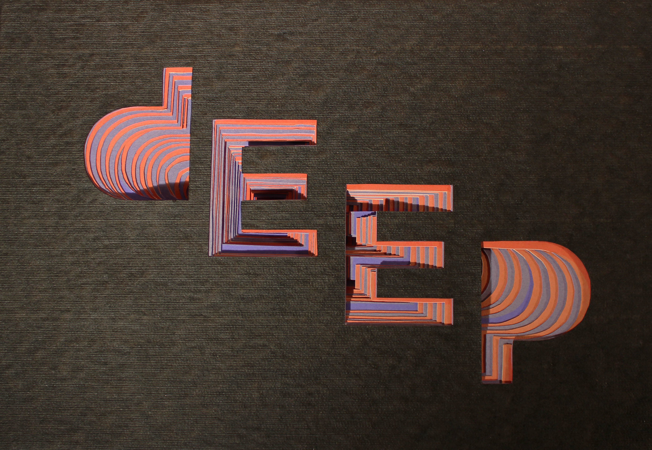 DEEP  3D typography layered paper