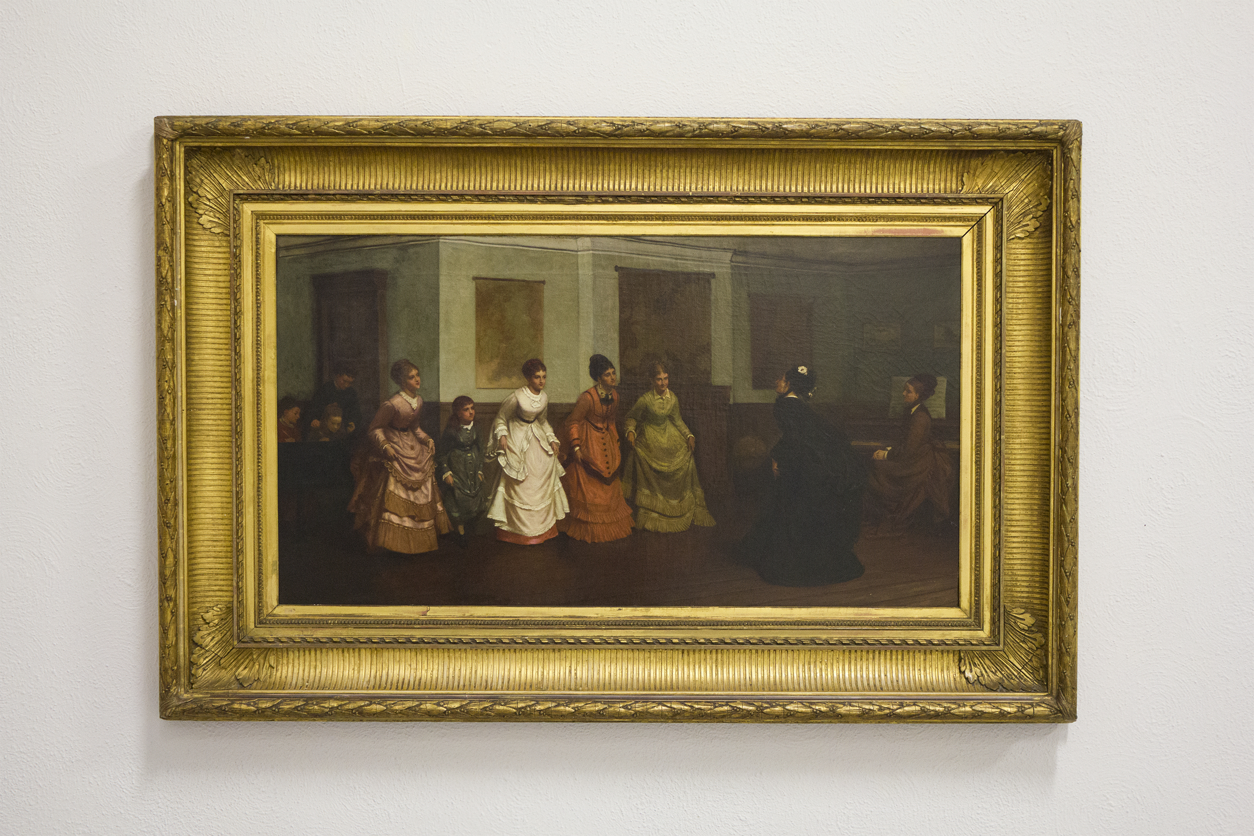Ladies Being Taught to Curtsey by Philip Hermogenes Calderon RA (1833 - 1898)
