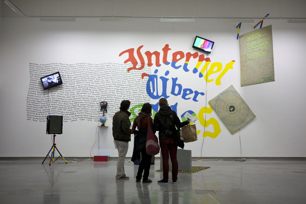 Installation view of Internet Über Alles at Rua Red Gallery (2012)