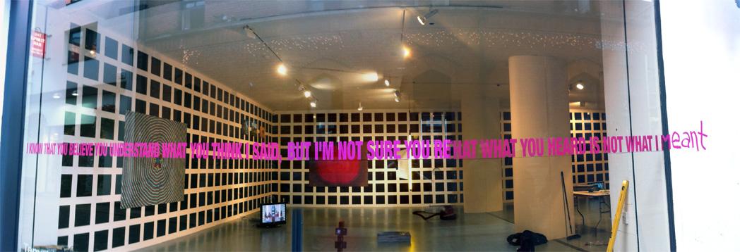 Exhibition window signage.
