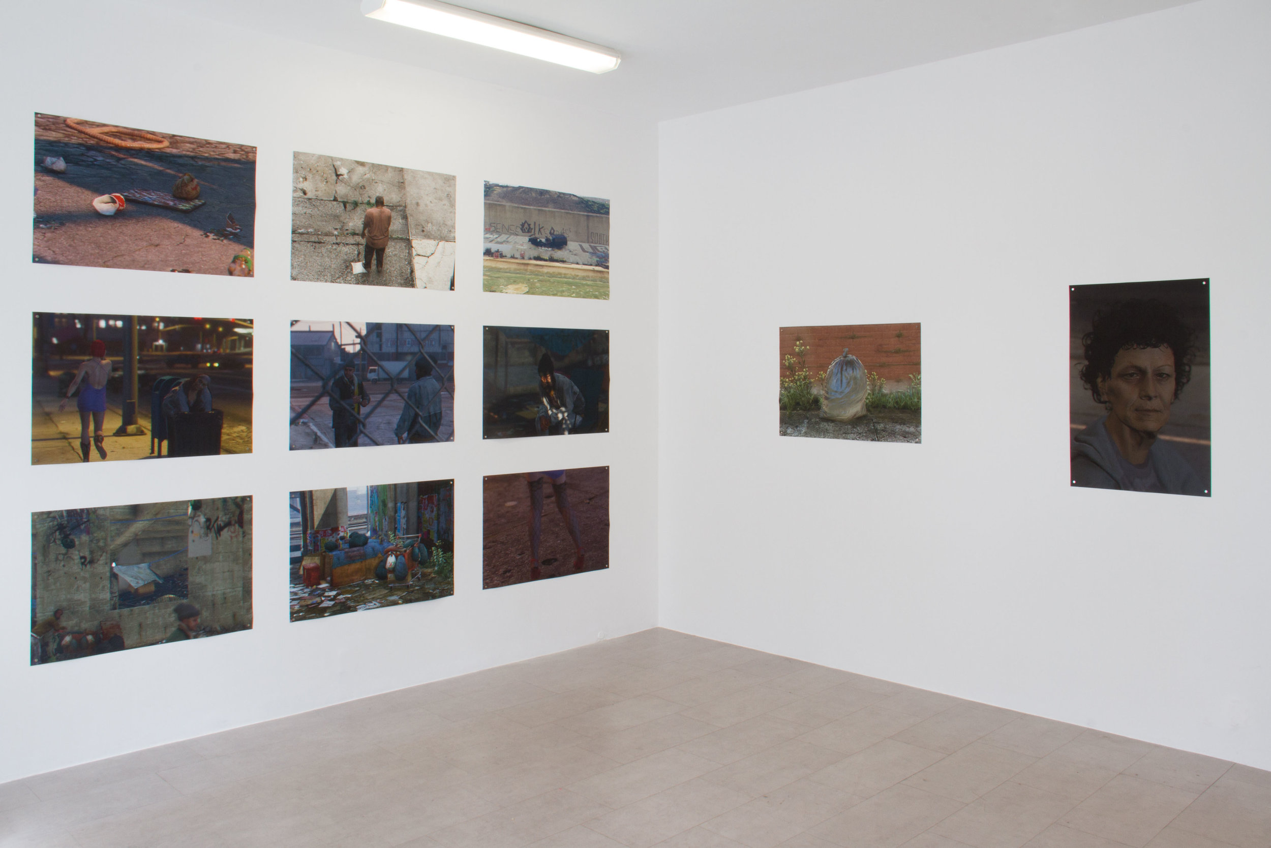 Installation View from Down and Out in Los Santos at Galleri CC for Malmö Fotobiennal 2017