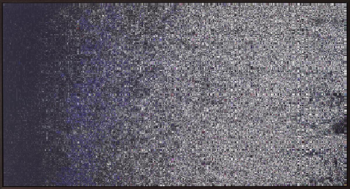 Sans Soleil (iOS8 Snow Trees) 2017 Deep matte Lambda Print. Cold mounted to Dibond. Edition of 3 + 1 AP 130.5cm x 240.4cm