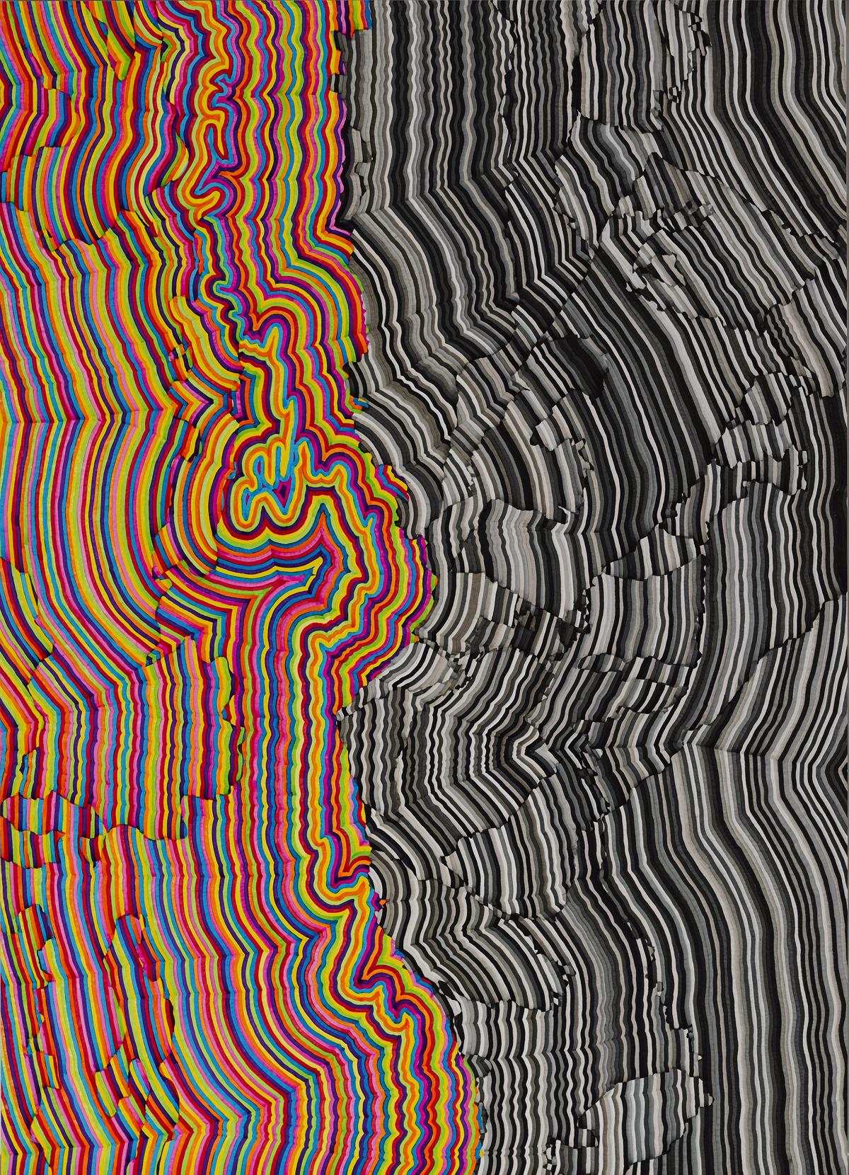 Sierra.jpg (v1) 2016 Lightfast Pigment Paint on Archival 100% Cotton Portfolio Rag. Cold mounted to Dibond. 181cm x 131.5cm