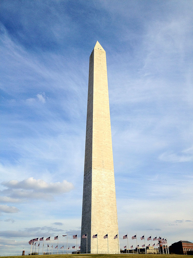 The Washington Monument, located in Washington, D.C.