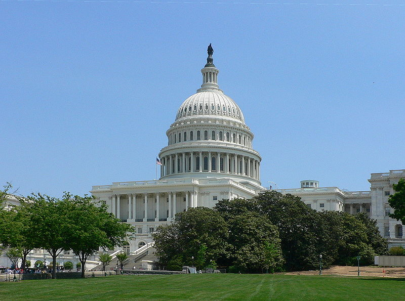 The United States Capitol, where both houses of Congress meet and have their offices.