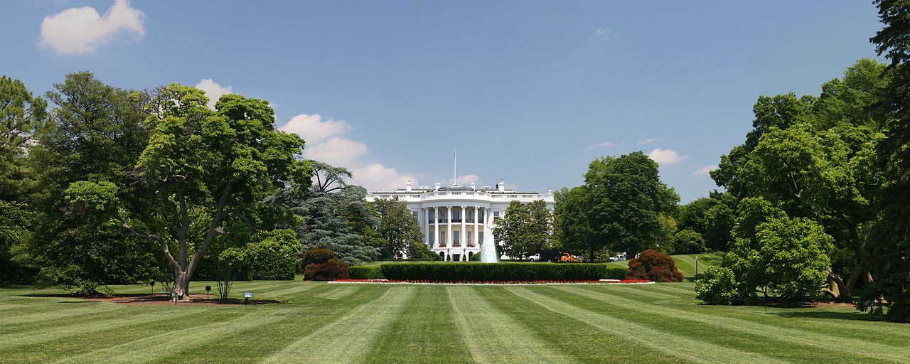 The White House in Washington, D.C., where the President lives and conducts official Executive Branch business.