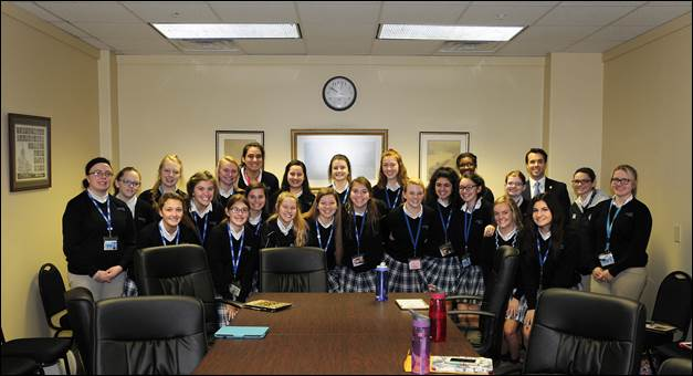 I am pictured above with Mercy Academy students during their visit to Frankfort.