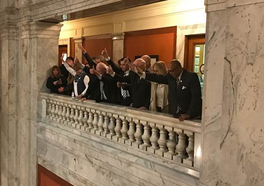 Hardworking men and women from across the commonwealth that gathered at the Capitol to protest labor and collective bargaining bills. They applauded members of the Senate Democratic Caucus for their support in voting against these measures and taking their voice to the Senate floor.