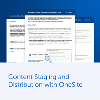 Automation: Content Staging with OneSite Datasheet