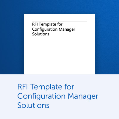 RFI Template for Configuration Manager Solutions