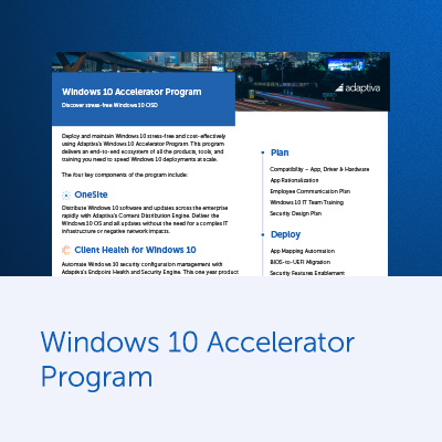 Windows 10 Accelerator Program Discover stress-free Windows 10 OSD