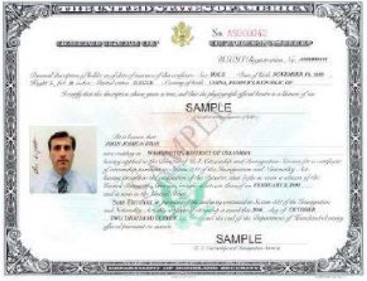 Certificate of Citizenship  (N-560 or N-561)