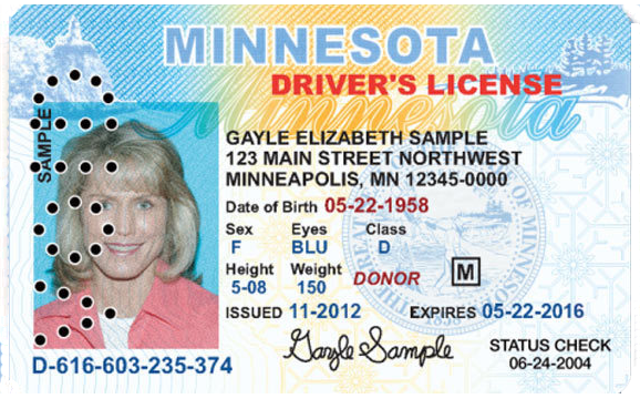 Expired Government Issued I.D.   Must be presented with a receipt indicating a replacement has been required within the last 60 days.
