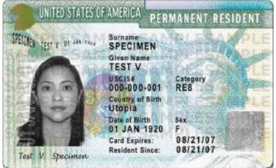 Permanent Resident Card (Unexpired)   If permanent residency is set to expire during the expected term of service, you will be asked for proof of renewal during your service.