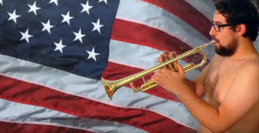 A thumbnail from  my rendition of the Star Spangled Banner . You're welcome, USA.