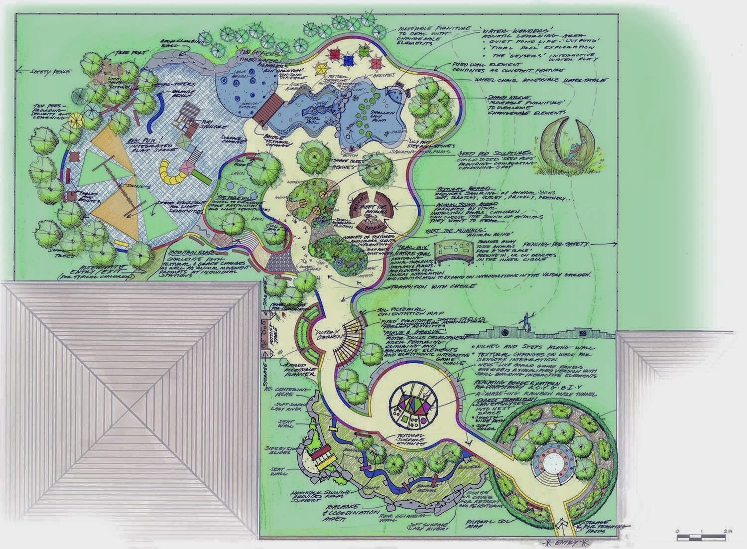 Sequential Outdoor Learning Environment was conceived by Tara M Vincenta and is a product of Artemis Landscape Architects Inc., Bridgeport, CT. All Rights Reserved including the use of the SOL logo, name, and environmental concepts.