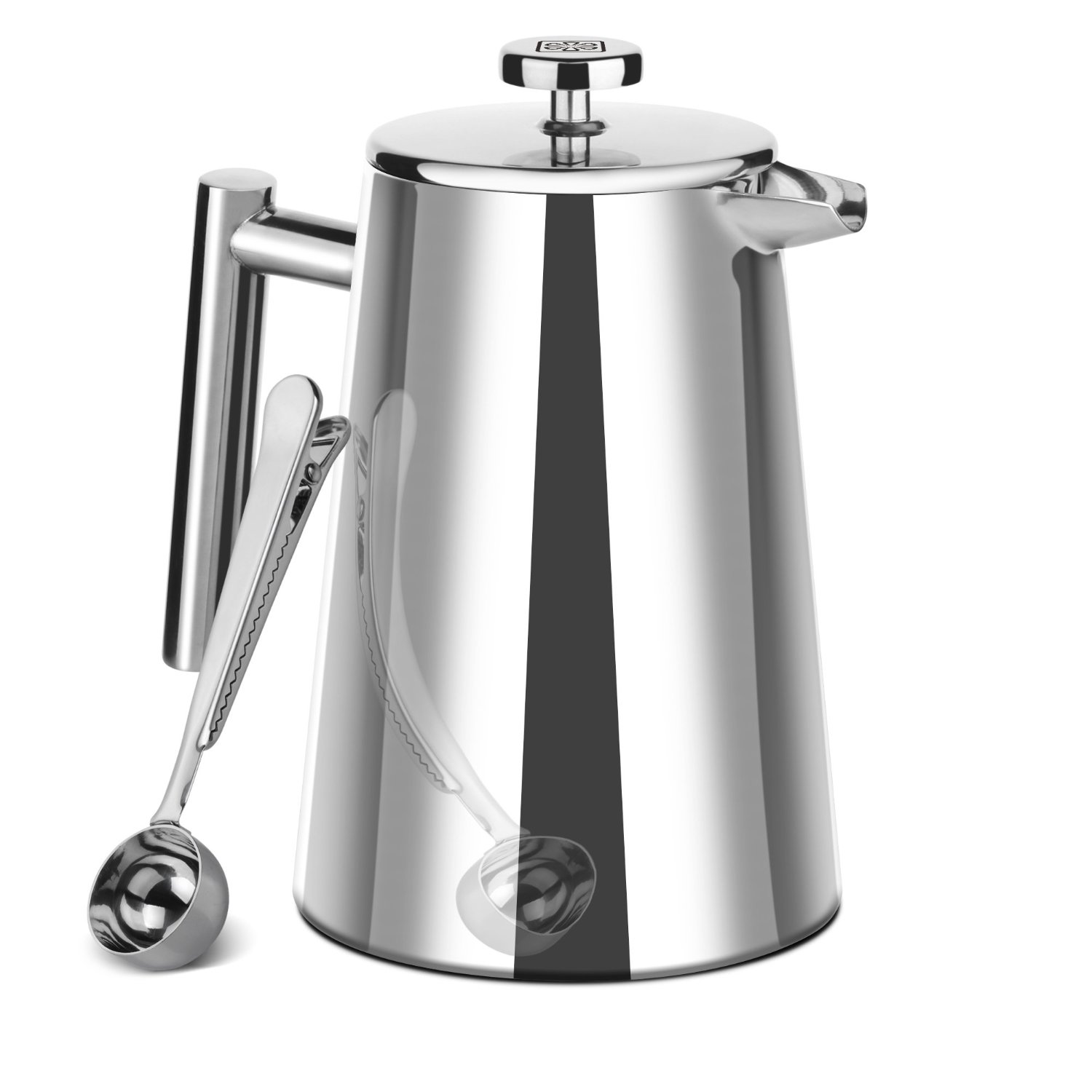 Double Wall Stainless Steel French Press   $ 32.99                        Buy on Amazon