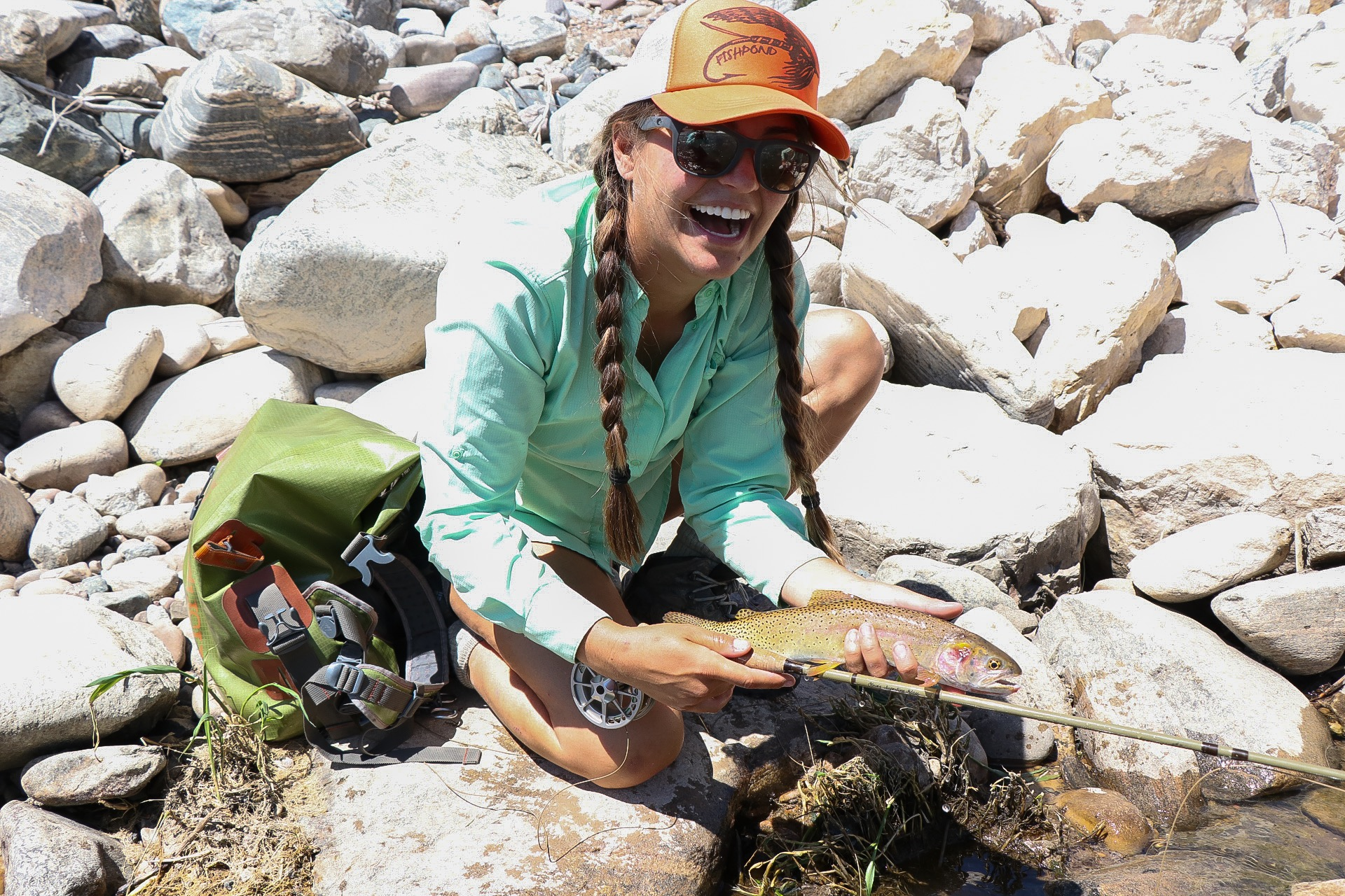 Heather couldn't stop smiling after landing this Bonneville Cutthroat.