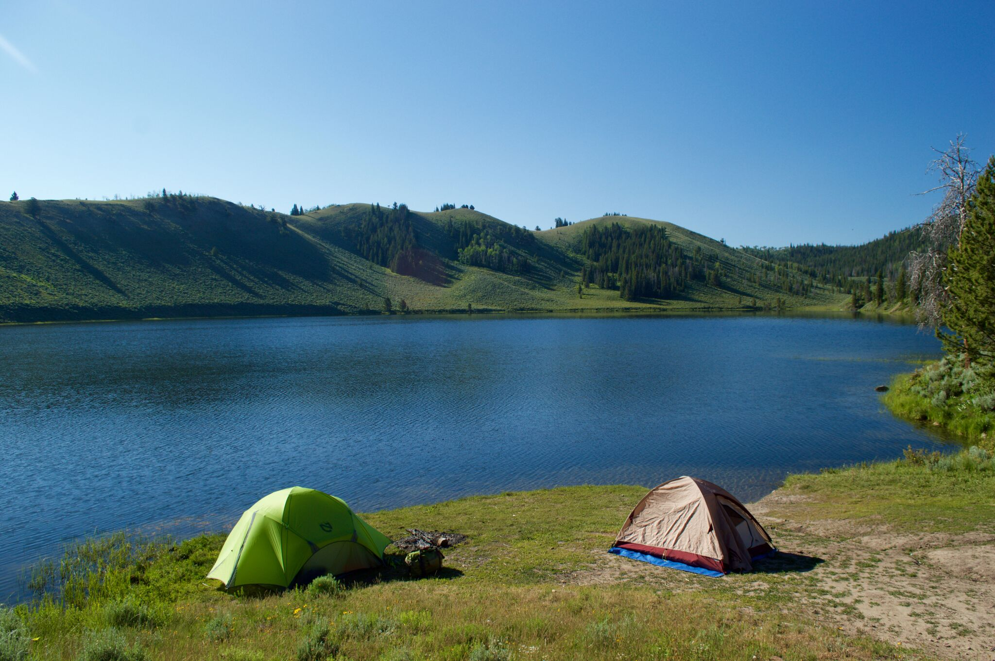 We opted to camp right on the lake in Bridger-Teton.