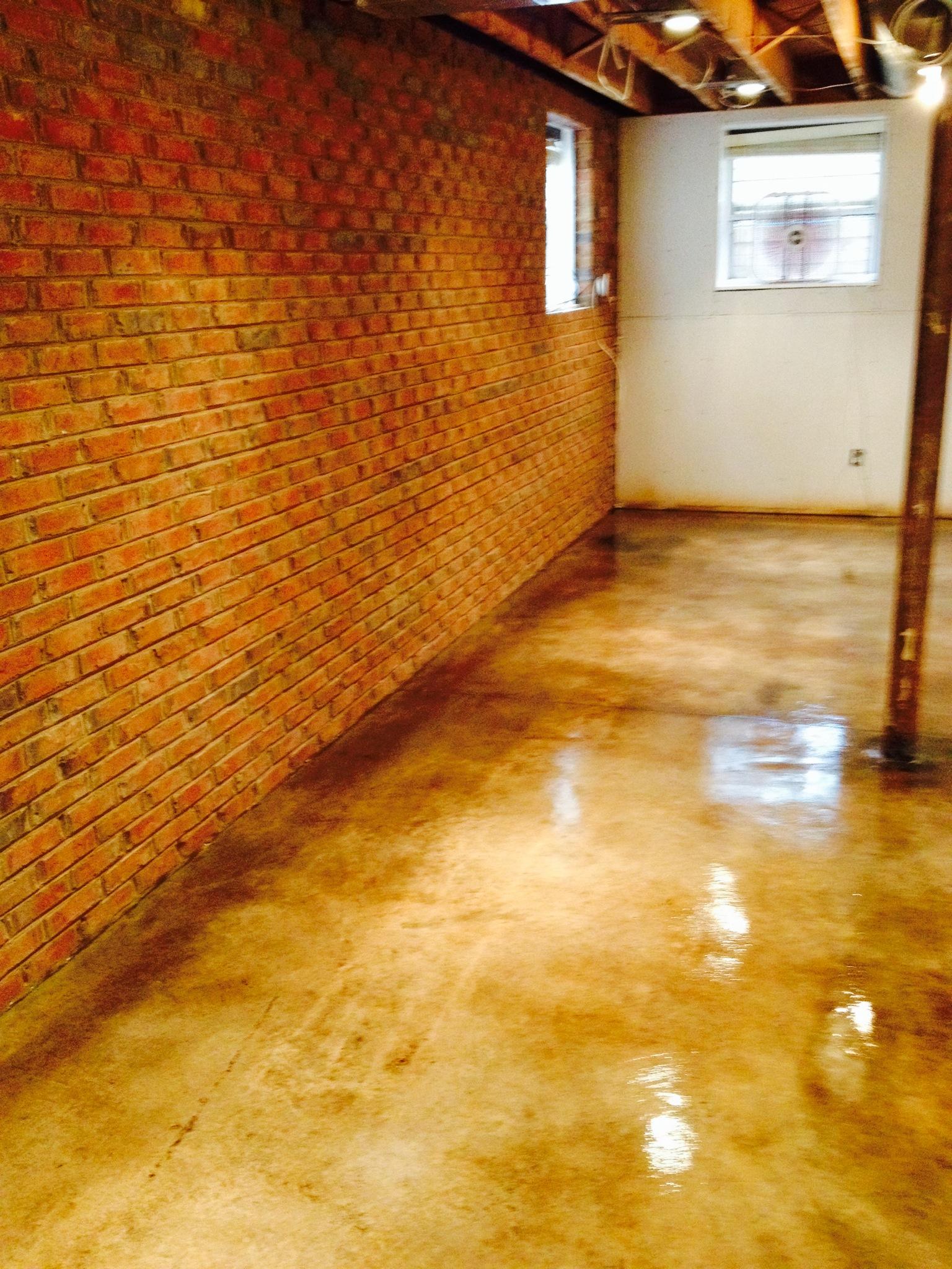 Basement floor renovation