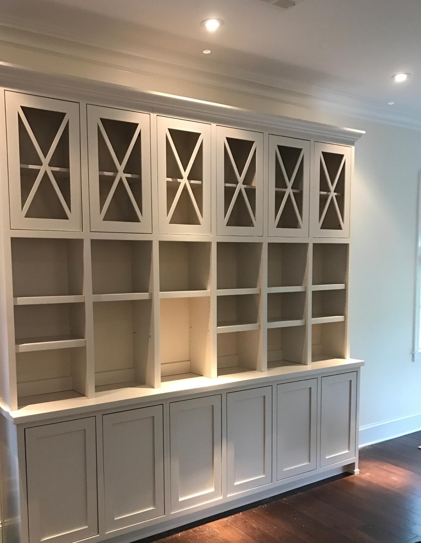 smyrna custom built in bookcases