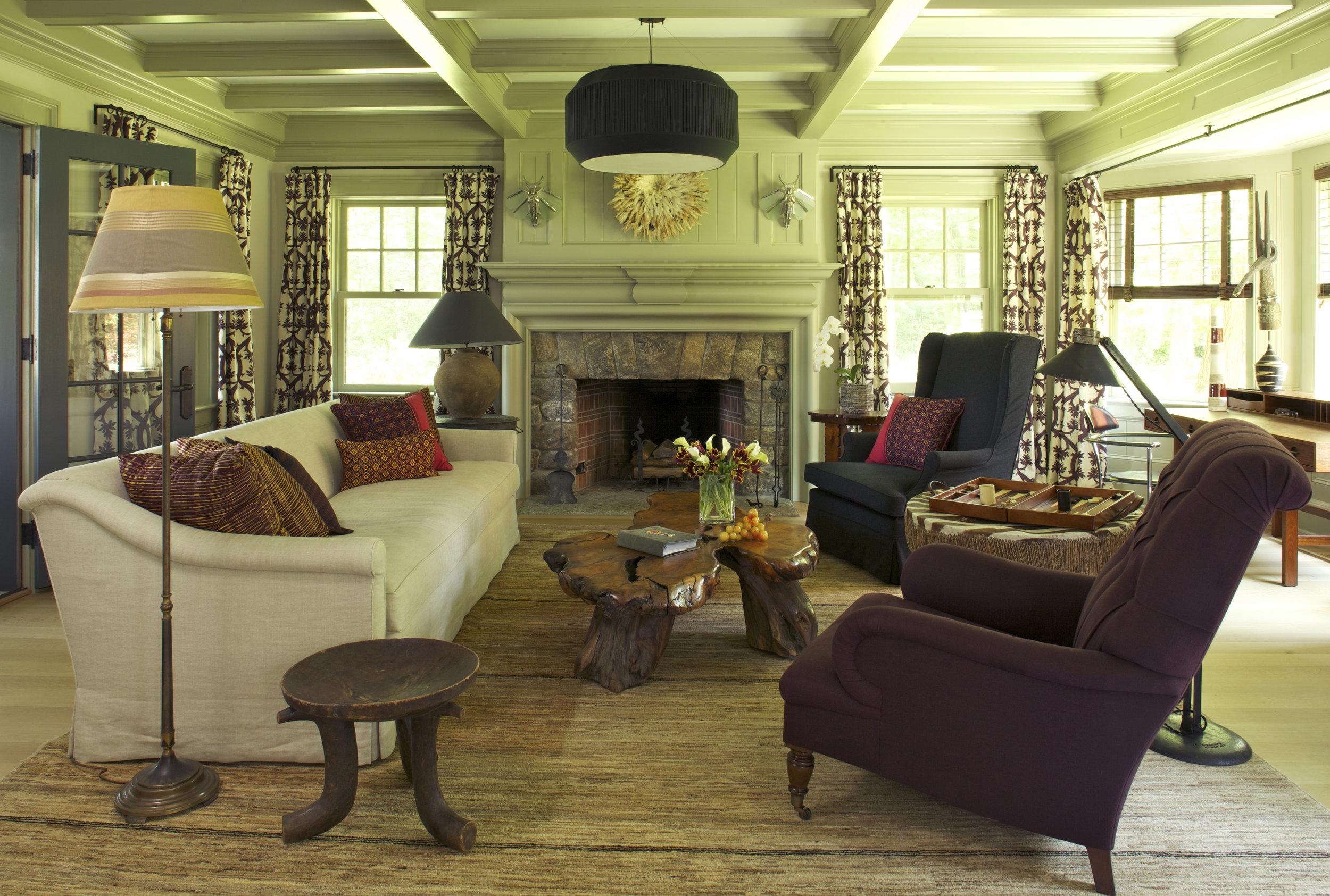 "Interior Design ""Sherborn Shingle Style"" Rafe Churchill"