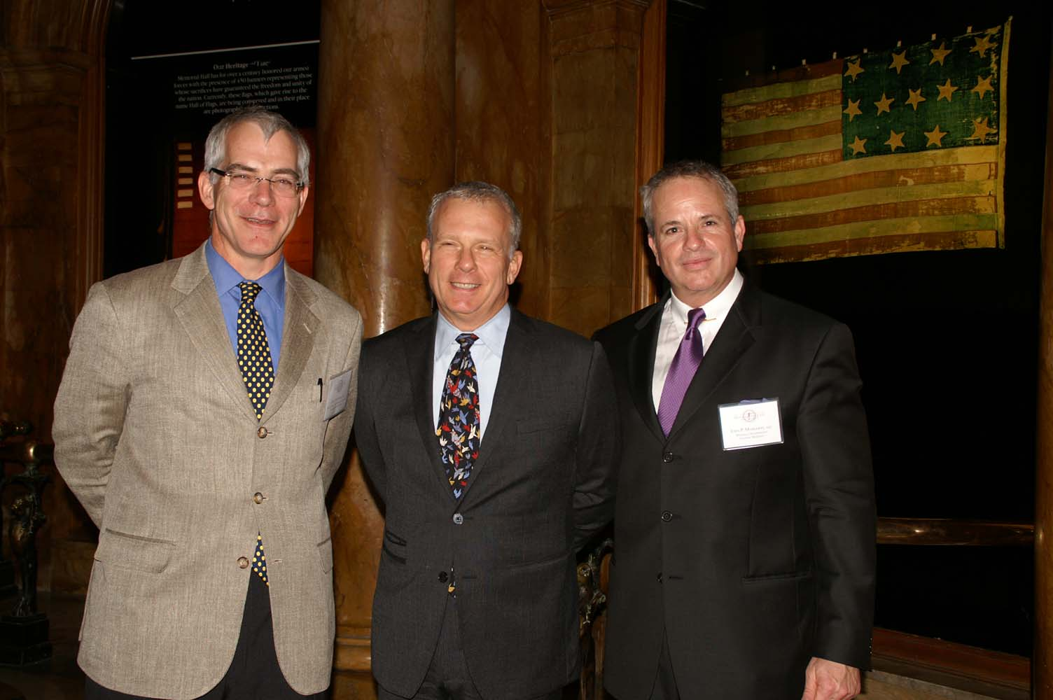 Board member John Tittmann, National ICAA President Paul Gunther, Chapter President John Margolis