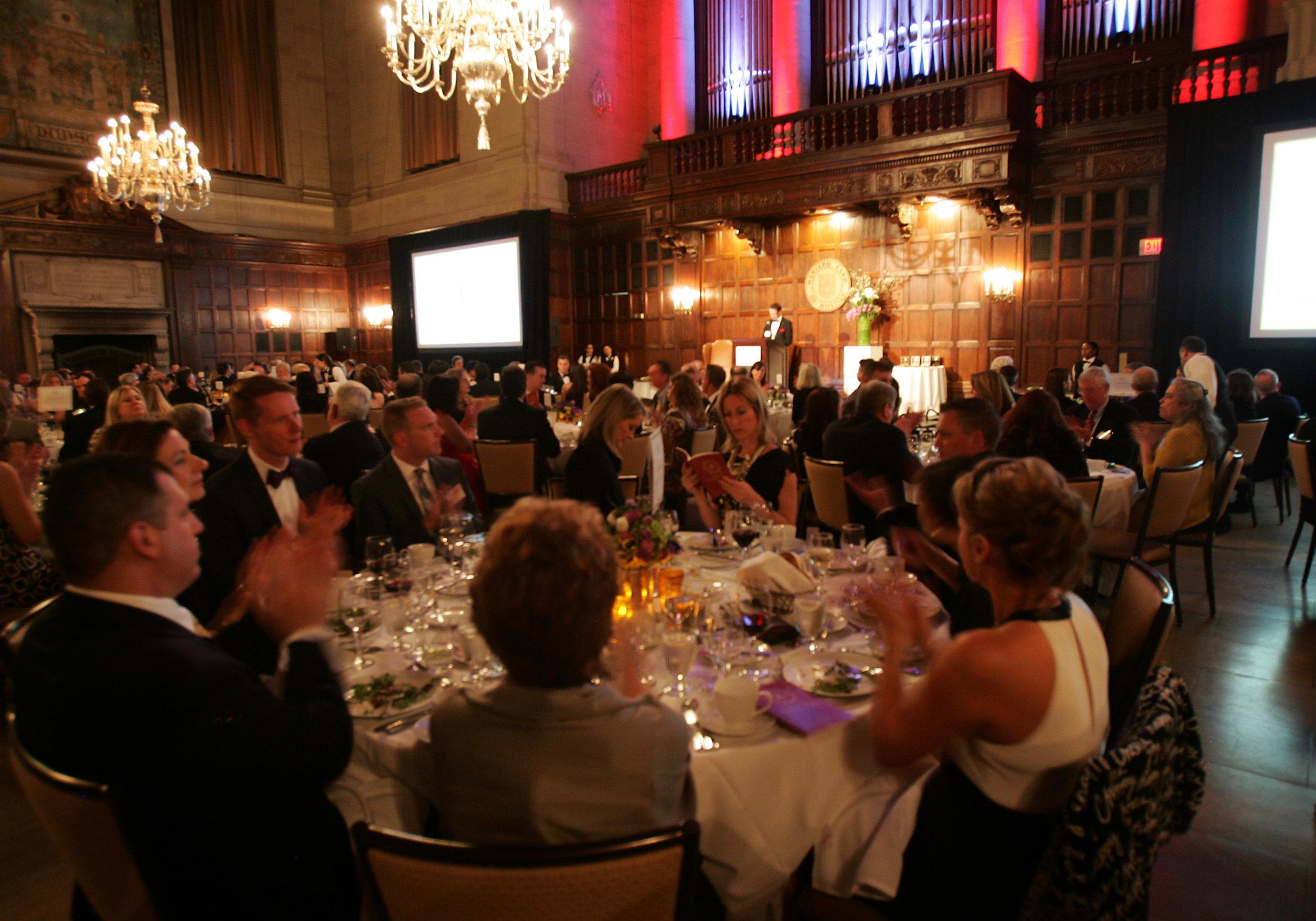 Awards gala underway in Harvard Hall