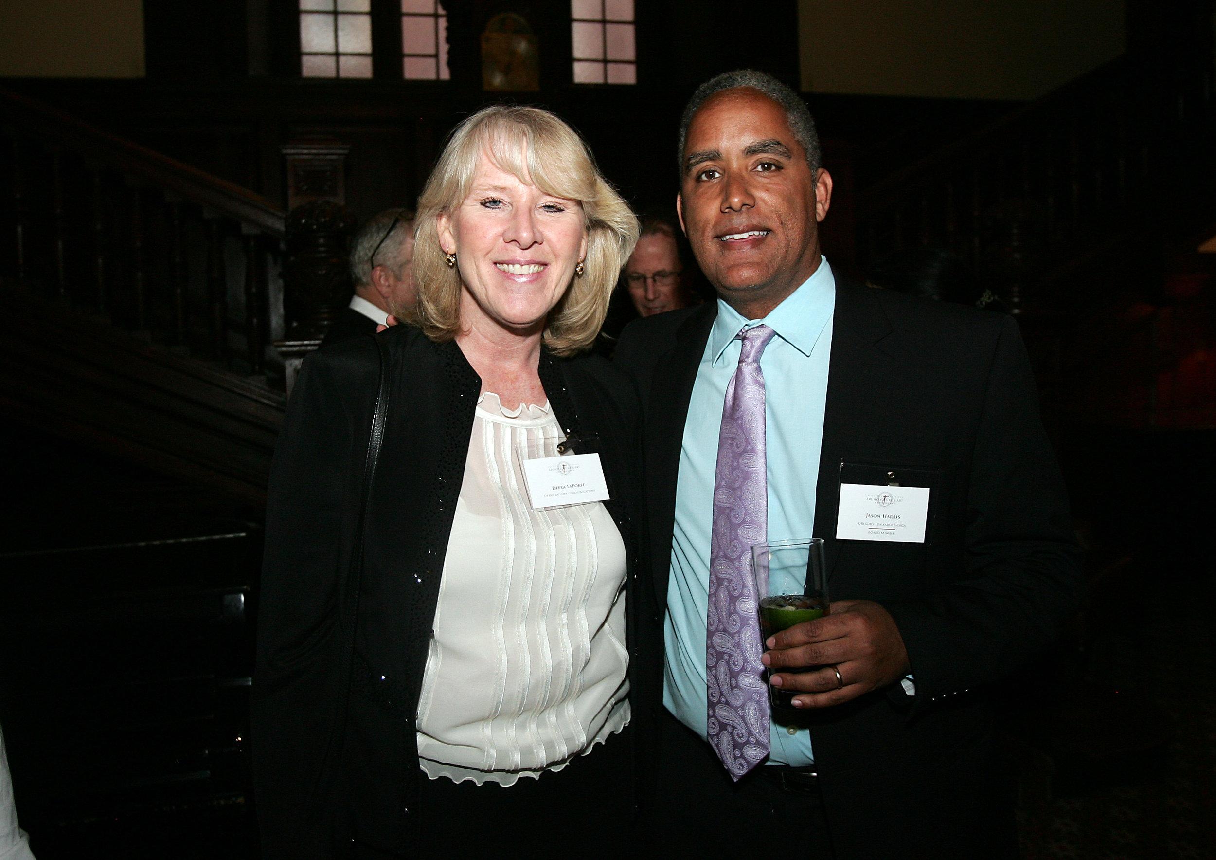 Debra LaPorte, Chapter Treasurer Jason Harris