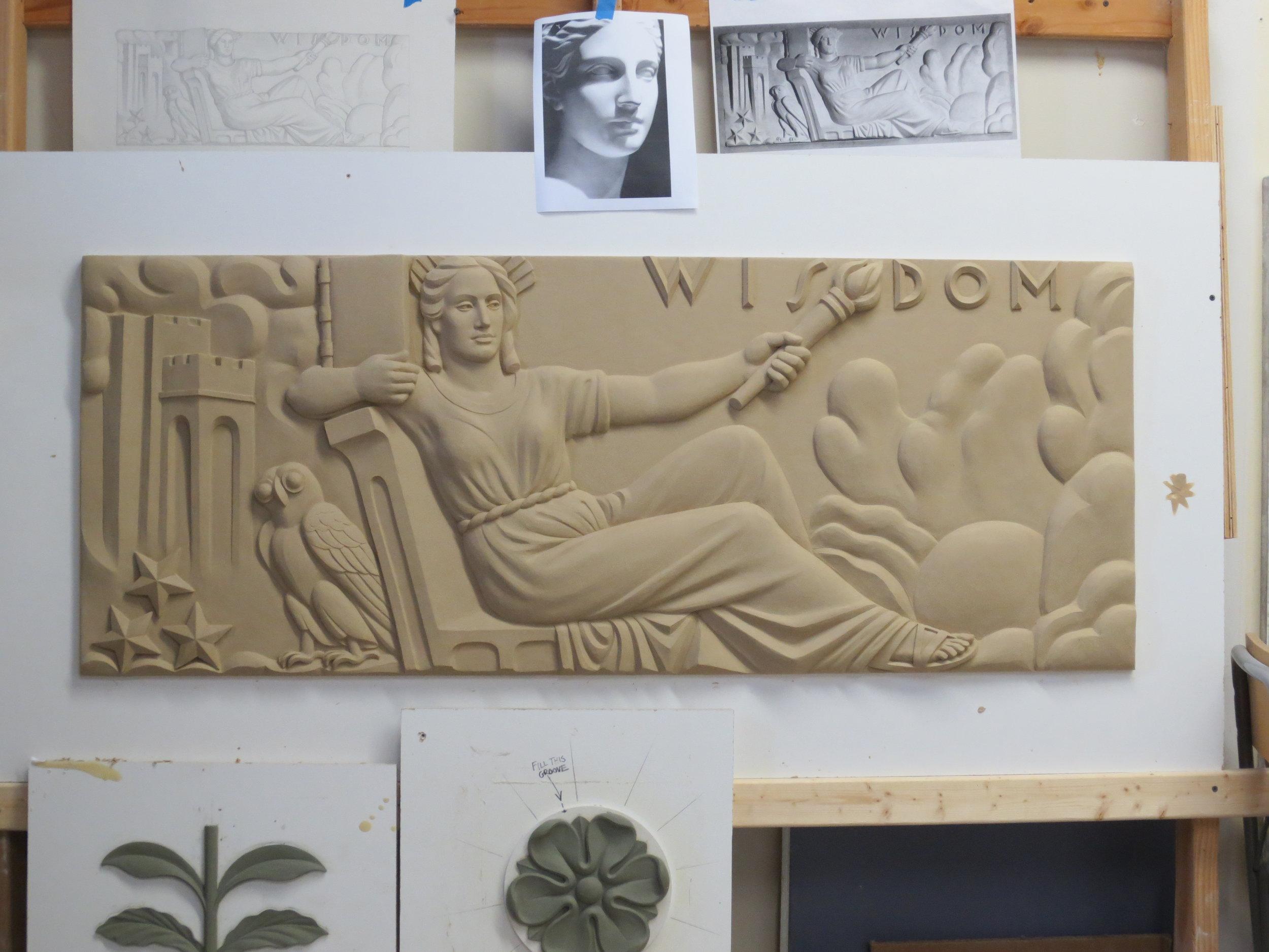 """Ornamental Plaster, Edward M. Kennedy Institute,"" by Hyde Park Mouldings - Craftsman/Artisanship"