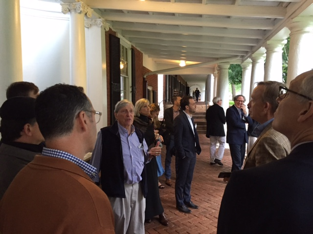Notre Dame Professor Emeritus Bill Westfall extolling the virtues of Jefferson's vision for the Academical Village