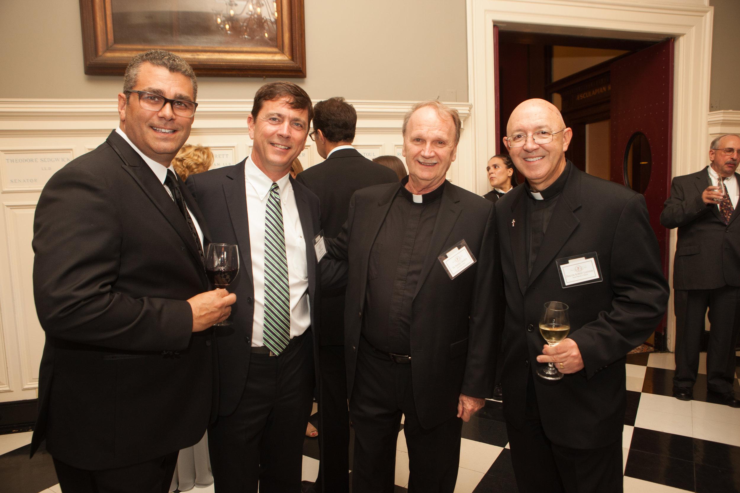 David Riccio, Joe McNamee, Fr. Daniel Crahen, Deacon Robert Leathers