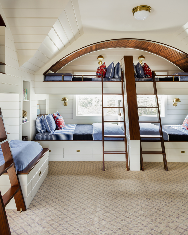 "Carpenter & MacNeille Woodworking for ""Nantucket Bunk Room"" -CRAFTSMANSHIP/ARTISANSHIP  Photo: Michael J Lee"