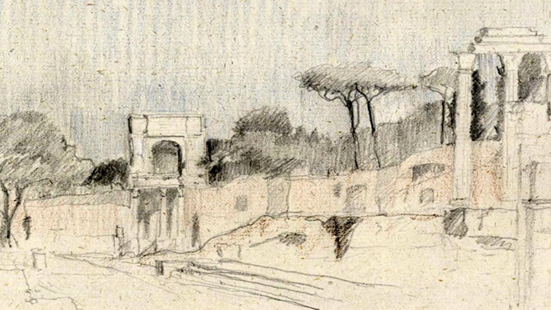 "SKETCH David Pearson for ""Forum Romanum"""