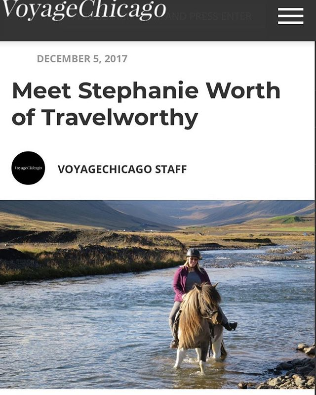 @sotravelworthy owner @sostephworthy chatted with Voyage Chicago about how we got started! Check it out!
