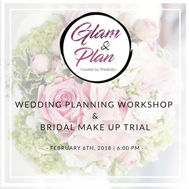 Attention Chicago brides-to-be! Check out this 'Glam and Plan' Wedding planning workshop hosted by @wedicity_chi ! Secure your spot at: https://buff.ly/2EgKslg ⠀ ⠀ Receive a mini makeover with a professional bridal make-up artist followed by a wedding planning workshop with certified wedding planner and owner of Wedicity. You'll get to choose a custom calligraphy keepsake to take home and get your photo taken of your new bridal look! Kick start wedding planning off right with a glass of champagne and a swag bag full of amazing gifts from @sotravelworthy and other companies who can make your wedding/honeymoon perfect!