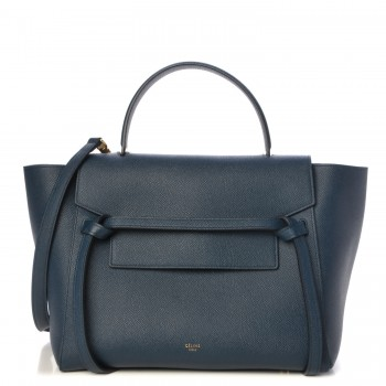 Celine Grained Mini Belt Bag Deep Sea blue