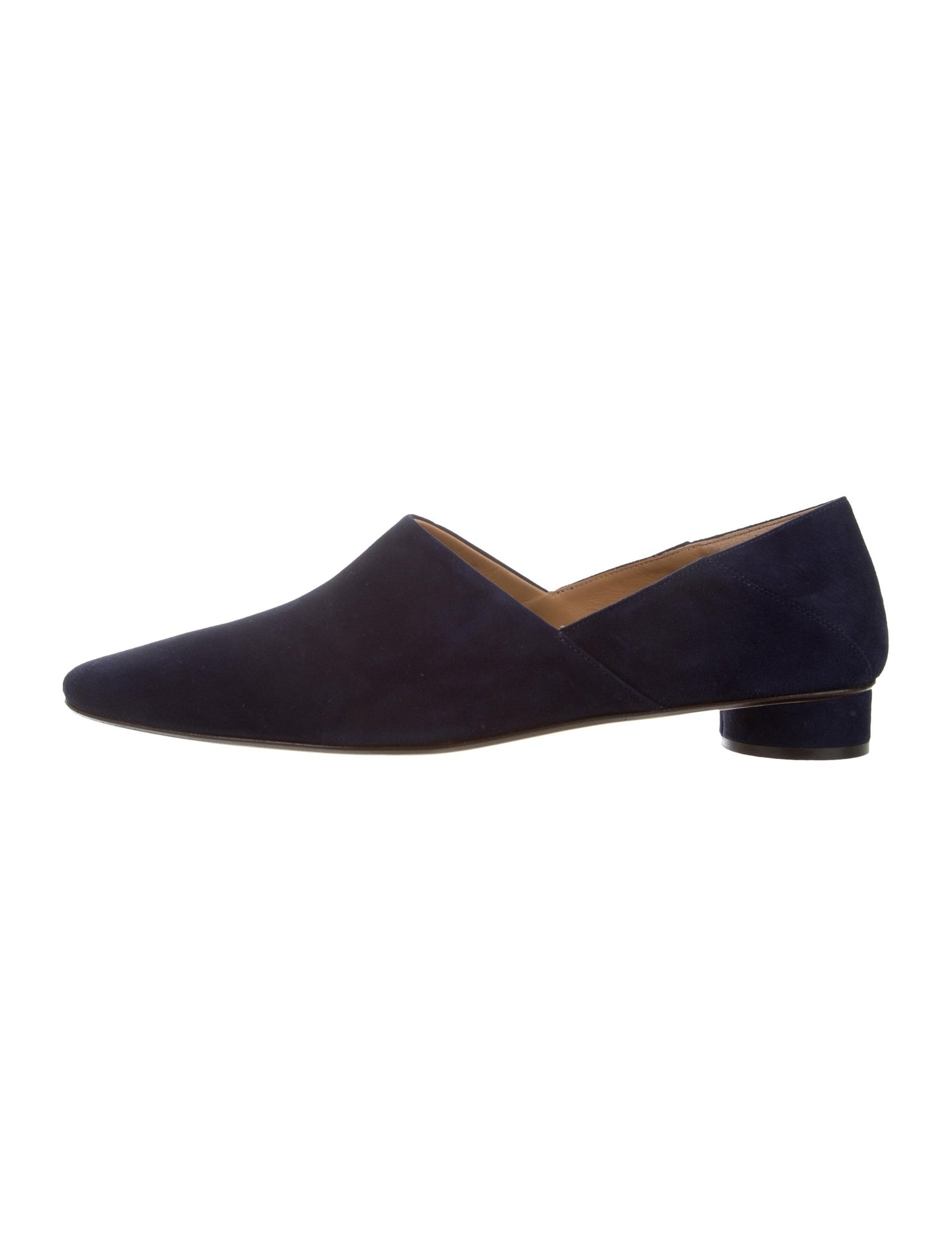The Row Suede Noelle Loafers