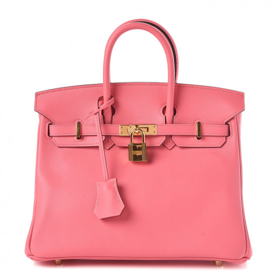 HERMES Swift Birkin 25 Rose Azalee