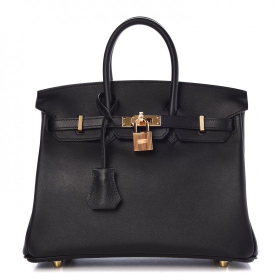 HERMES Swift Birkin 25 Black