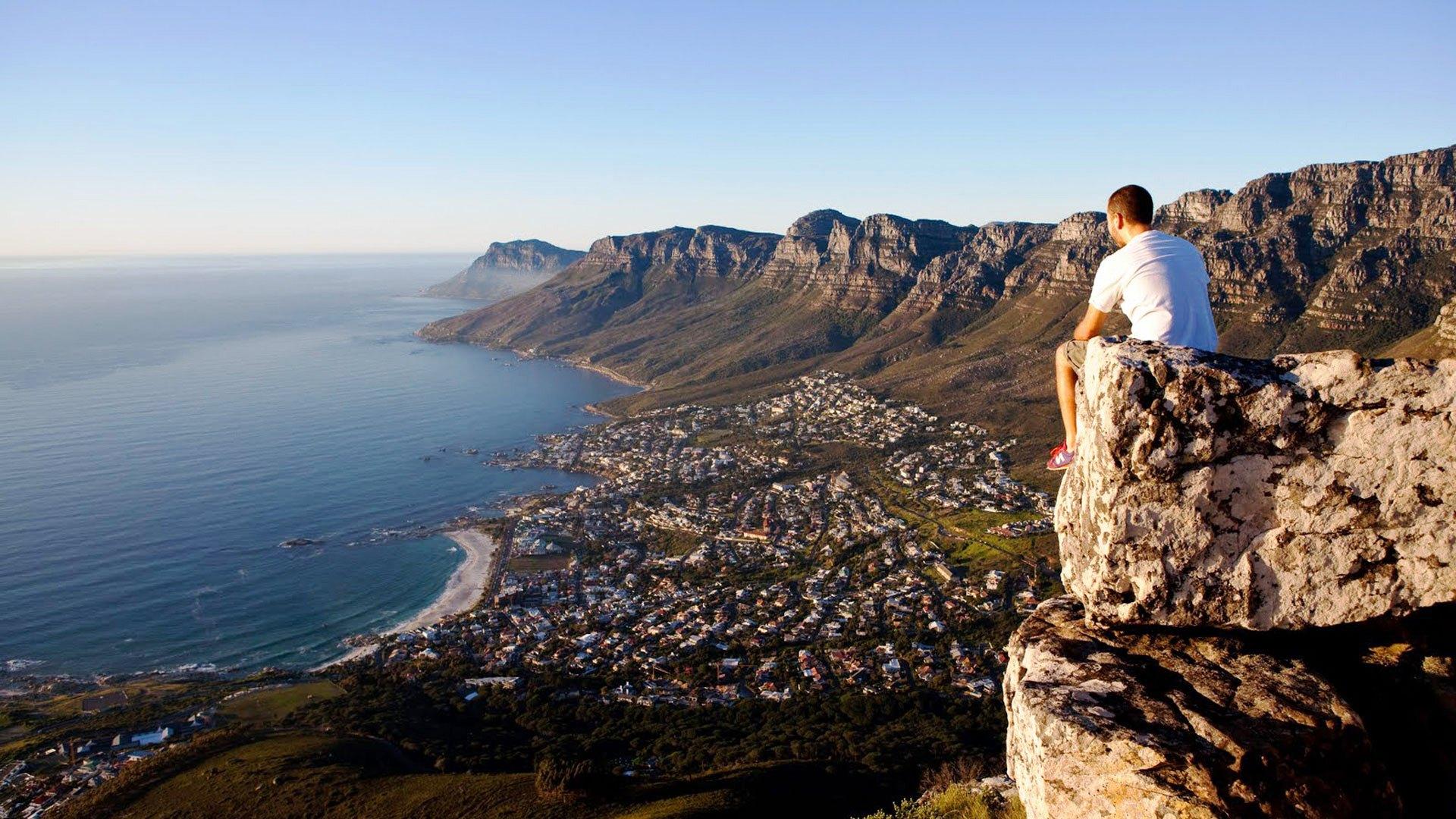 Looking towards the Twelve Apostles from Lion's Head peak. Image found   here