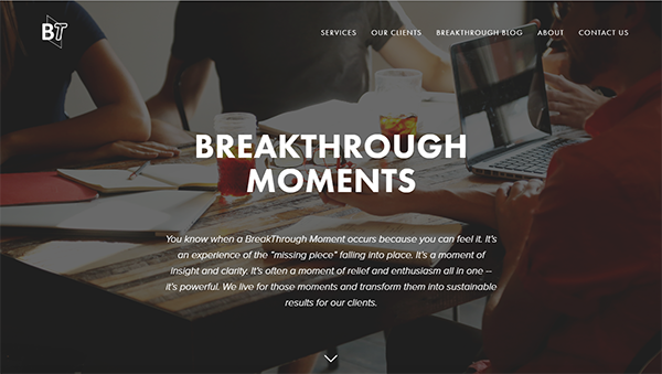 BreakThrough Results is a Chicago consulting firm that works with business owners of small to medium size businesses.