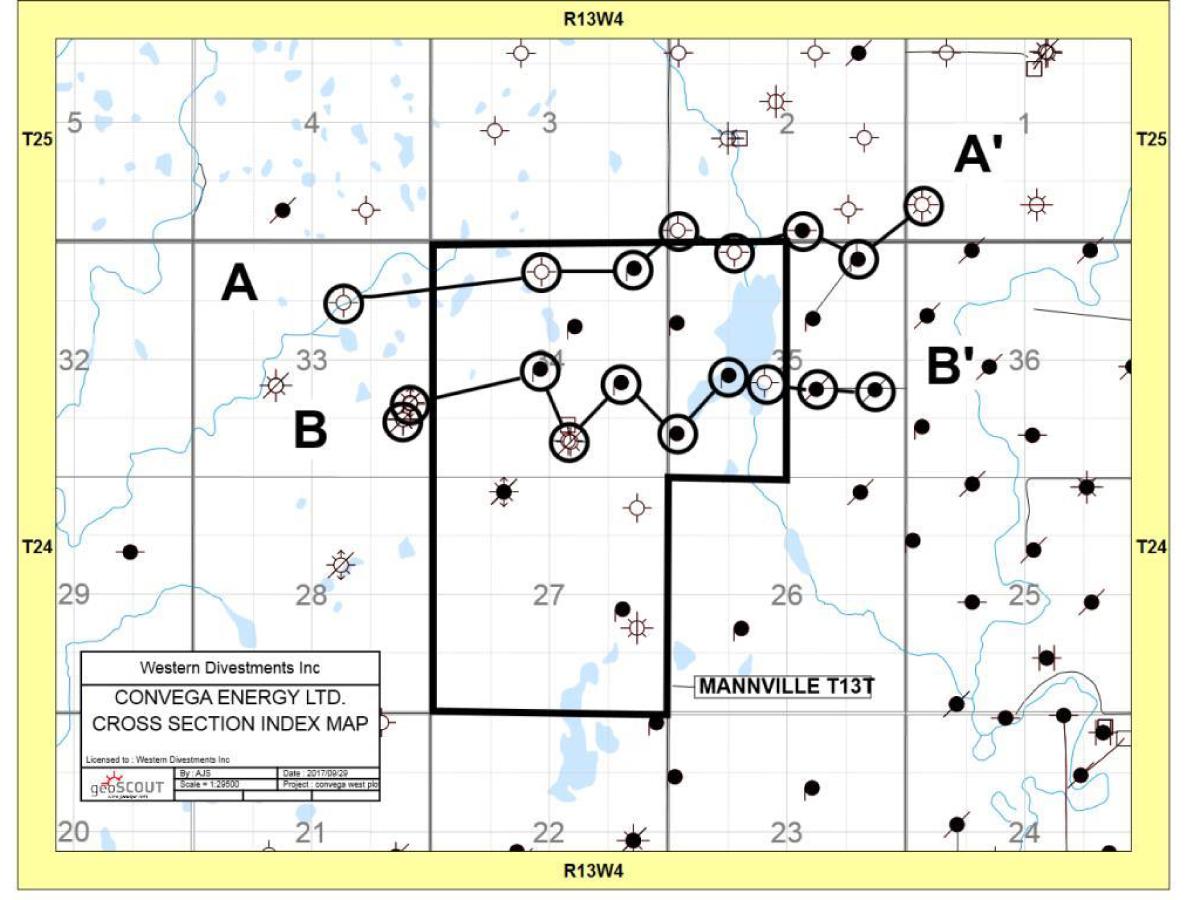 Structure Contour Map: Top Lower Glauconite Sandstone