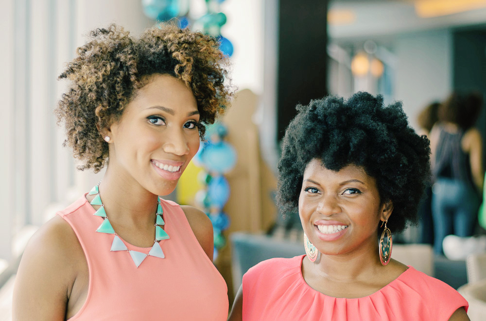 Whitney  is a certified running coach with Road Runners Club of America, has completed five triathlons, two half marathons and is co-founder of Sporty Afros. Whitney is dedicated to helping black women connect the dots between fitness, nutrition and healthy, stylish hair care. (pictured on left)
