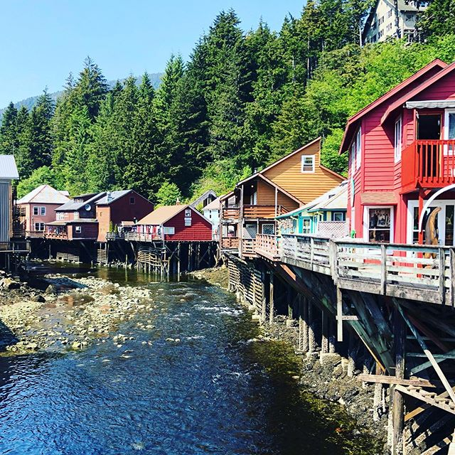 The #postcard shot in #ketchikan #alaska . Ketchikan was so pretty! Alaska was a breathtaking State! The weather was gorgeous and so was the scenery. However many of the locals we chatted with were talking about how frighteningly unusual the heat was for this time of year (we were there in May). #climatechange seemed to be on many of their minds.